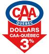 3% de remise en Dollars CAA sur tout achat de pneus d'hiver ou de pneus d'été